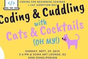 Coding & Cuddling with Cats & Cocktails @ Soma Art Lounge